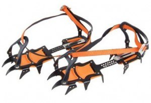 Strap-on crampons.