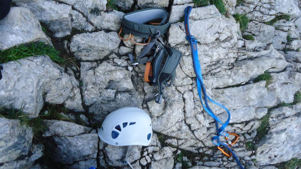 Some elements of my equipment used climbing Alpspitze in German Alps.