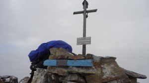 Summit cross of Monte Vago.