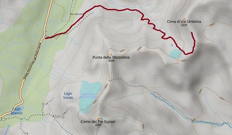 Route to Bivacco Battaglione Ortles.