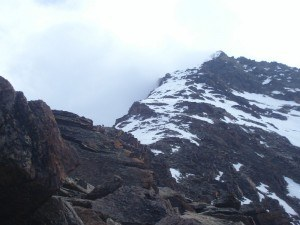 Lagginhorn- View toward the summit.