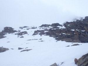 Steep section on Lagginhorn.