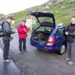 Preparation for the climb to Monte Breva.