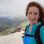 Ivana: selfie on the summit of Monte Breva.