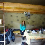 Ivana enjoying inside the refuge.
