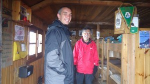 Iani and Mitsuo, happy in the refuge.
