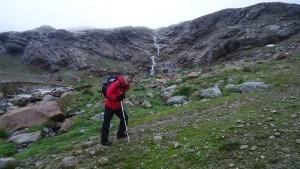 My friend Mitsuo Kono on the route to Cima Valumbrina.
