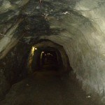 Tunnels at the Dix lake.