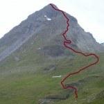 Route over Rochers du Bouc (3314 m).