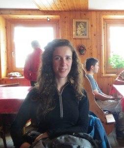 Jelena in the hut.