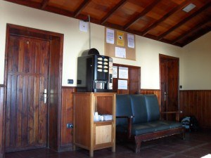 Inside Altavista hut on Teide.