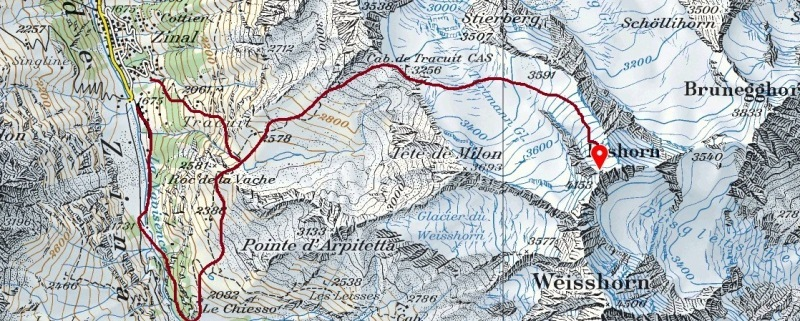 Bishorn access routes.
