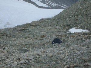 A tent on 3246 m.