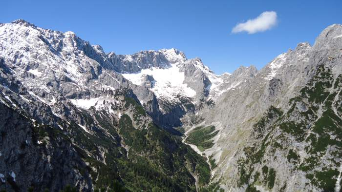 Zugspitze as seen from the summit of Schwartzkopf.