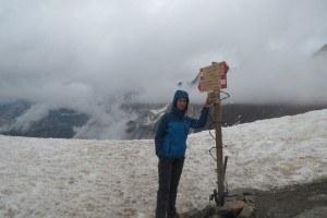 Jelena at Zebru pass.