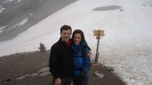 Jelena and me and Zebru pass.