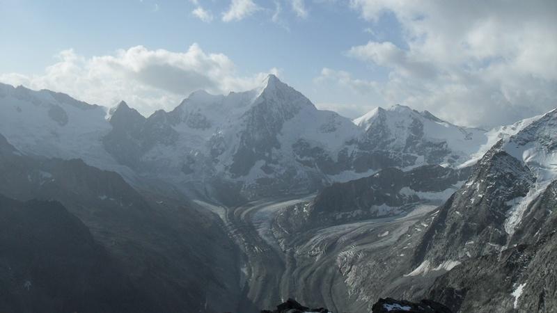 View toward Ober Gabelhorn (4063 m) from the summit of Pigne de la Le.