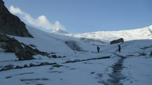 At the beginning of Moiry glacier.