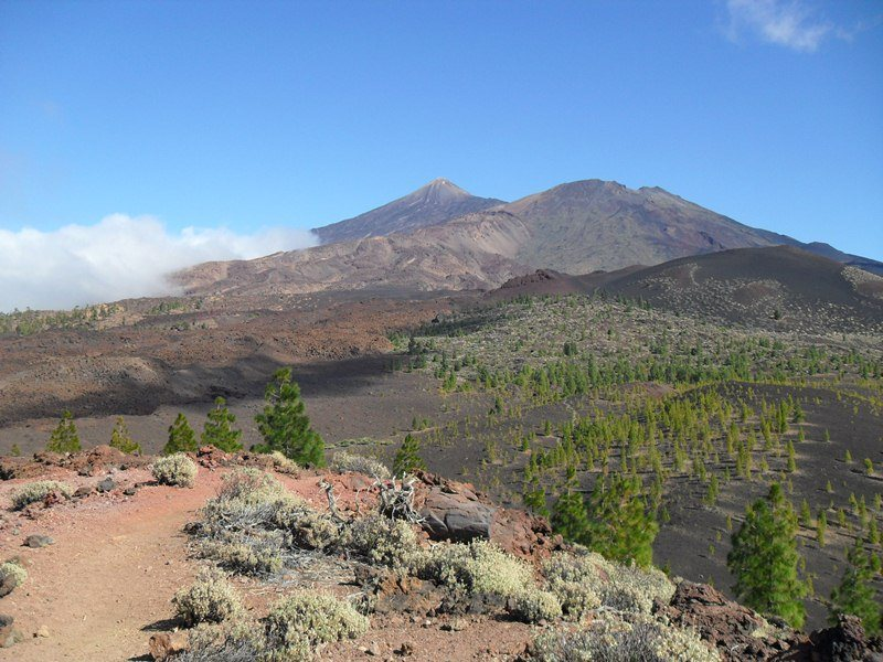 Teide mountain seen from the west.