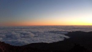Down, far above the clouds.