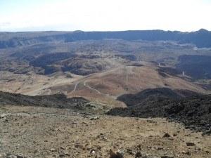 Teide Mountain access route.