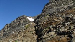 Below the summit.