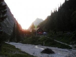 Climbing Zugspitze- Hoellental hut