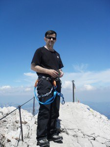 Me proudly on Zugspitze summit.