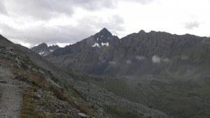 View toward Fluela Schwarzhorn