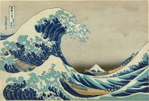 Climbing Mount Fuji-Hokusai-great wave
