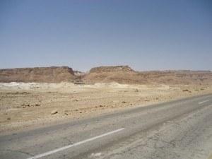 Masada from the road