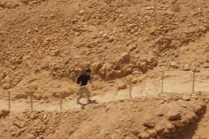 Masada me climbing