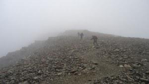 In clouds on Monte Scorluzzo.