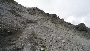 Piz Umbrail, an easy section but with possibility for falling