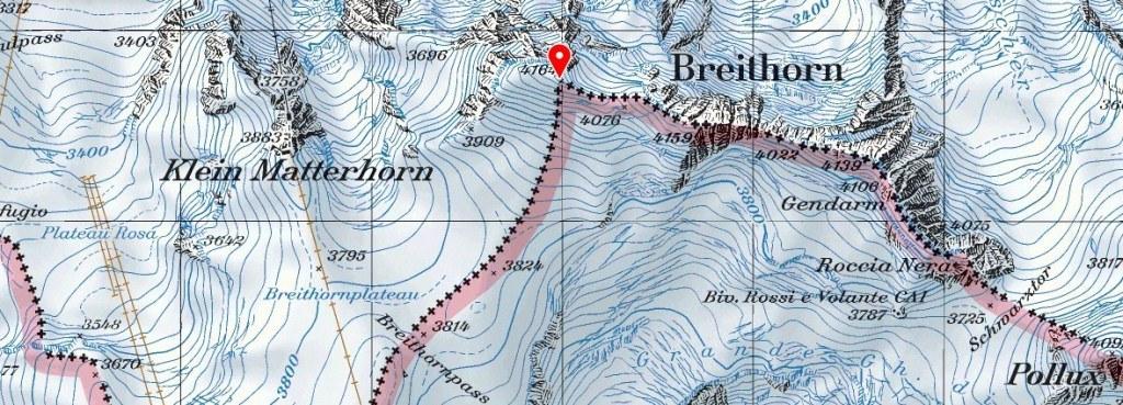 Breithorn-swiss-topo-map