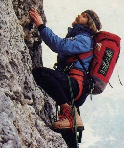 Korean President Becoming Climber-messner climbung with backpack