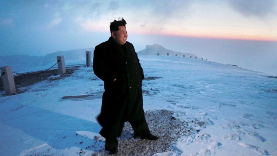 korean president mountain climber - great shoes