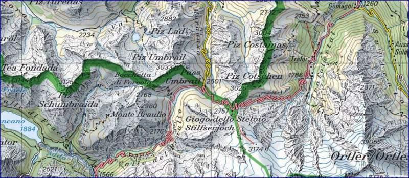 Stelvio pass - swiss topo map