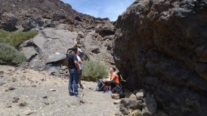 teide- second stop at lava ball