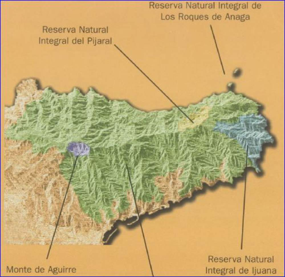 Anaga Mountains Tenerife - zones of special protection