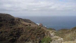 chamorga faro de anaga-viev back toward the sea