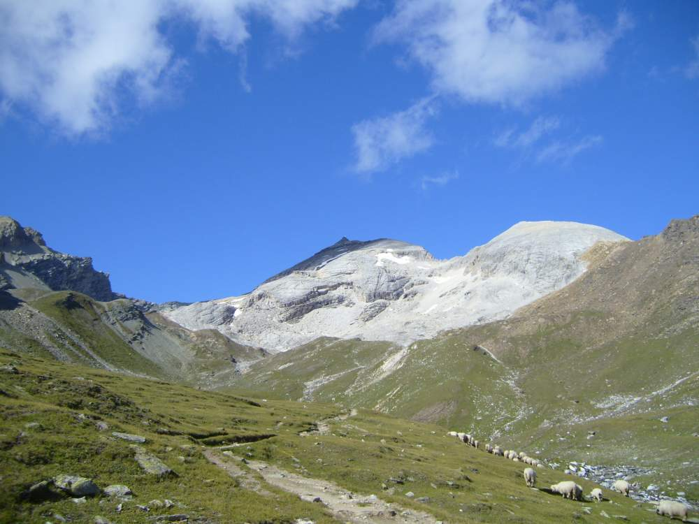 Platthorn and Mettelhorn - Platthorn seen from the route