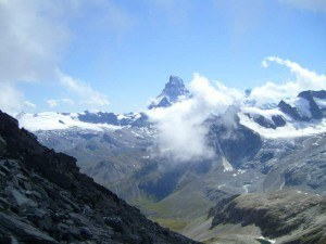 Platthorn and Mettelhorn - matterhorn seen from platthorn