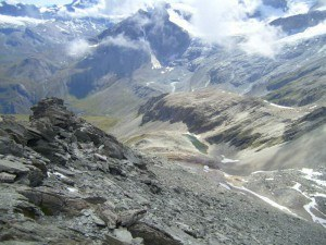 Platthorn and Mettelhorn - view back over the route