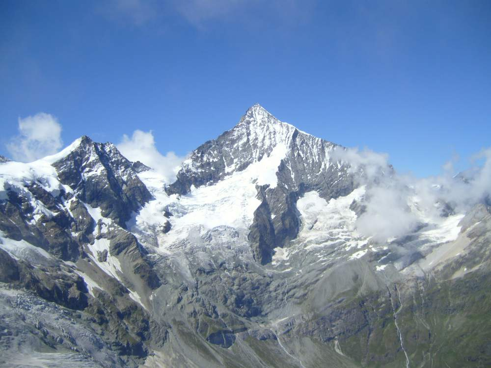 Platthorn and Mettelhorn - view of weisshorn