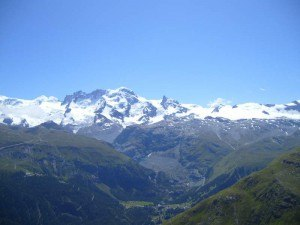 Platthorn and Mettelhorn - view toward Breithorn