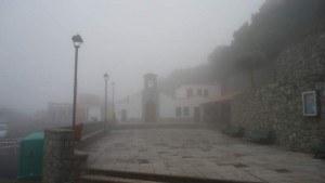 A church in clouds. Las casas de la Cumbre.