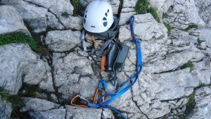 climb Alpspitze - my equipment used at Schongange passage.