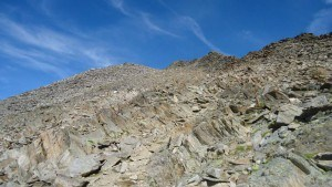 Above Brizzisee, view up.