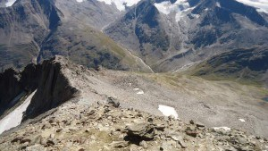 Summit ridge and view back.